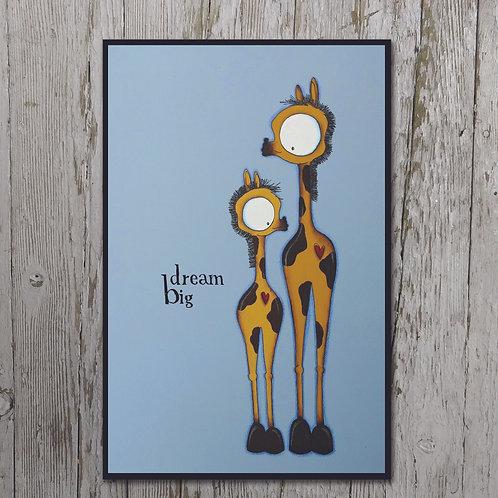 Dream Big Print Plaque