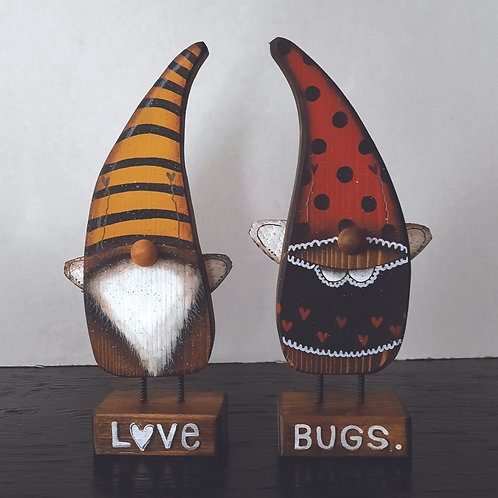 Pair of Love Bugs Gnomes