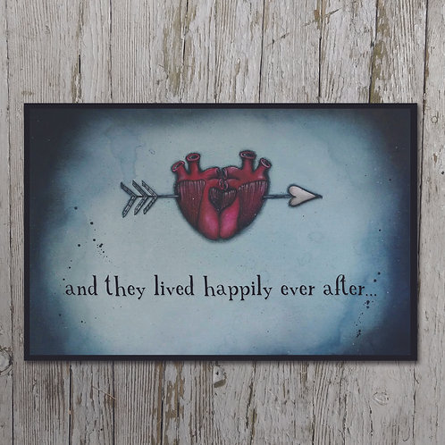 Happily Ever After Print Plaque