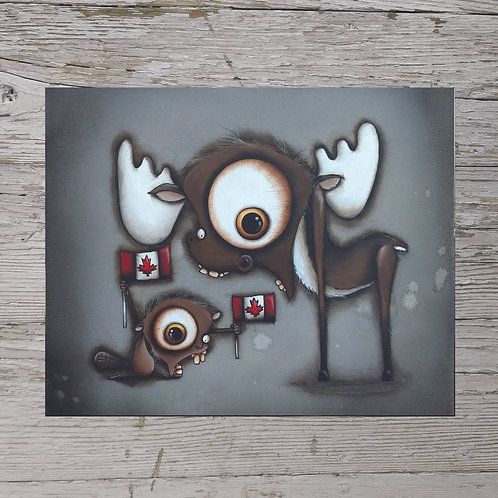 Beaver/ Moose Print