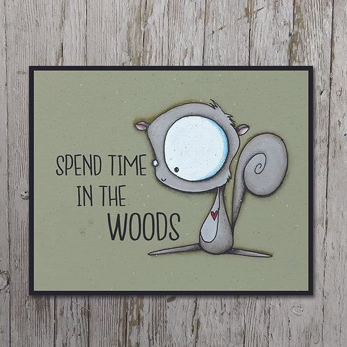 Squirrel Print Plaque