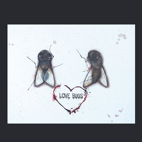 "11""x14"" Love Bugs Painting"