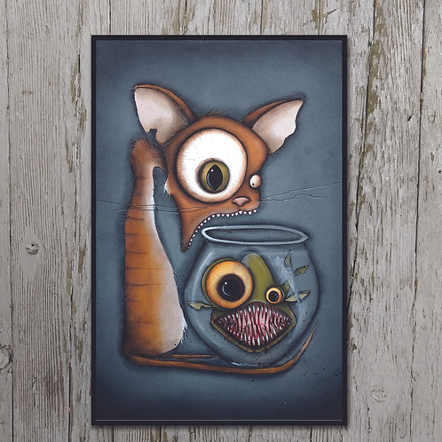 Cat Print Plaque