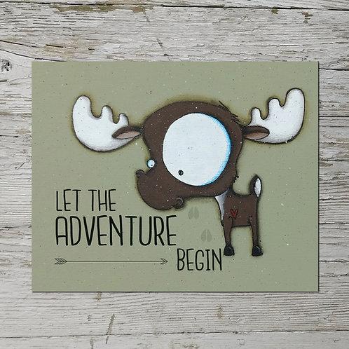 Let the Adventure Begin Print