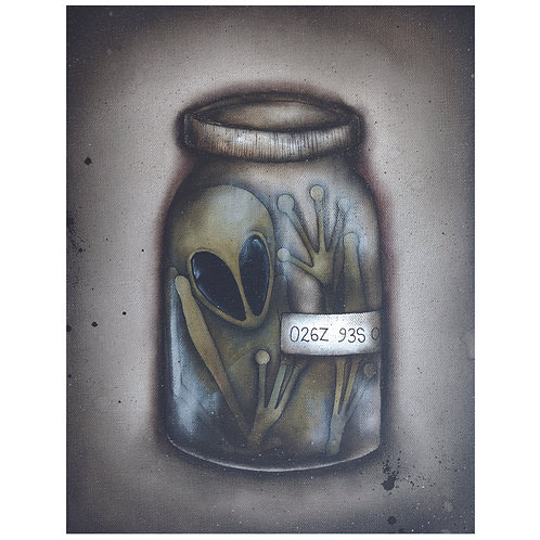 "11""x14"" Alien Painting"