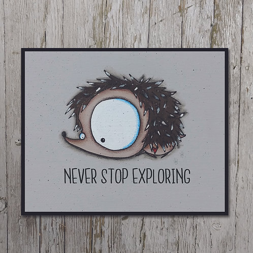 Hedgehog Print Plaque