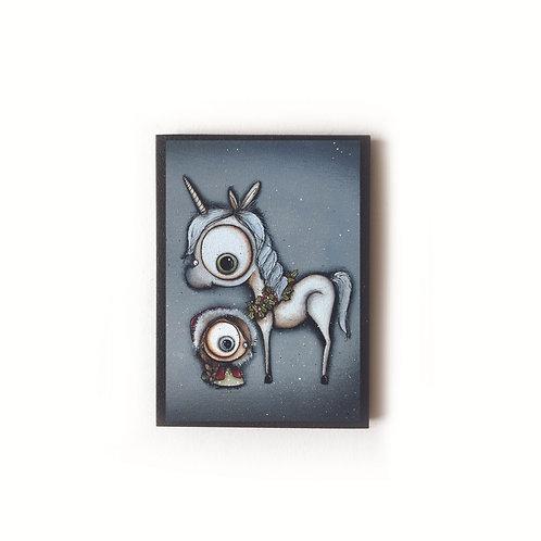 Winter Unicorn Magnet