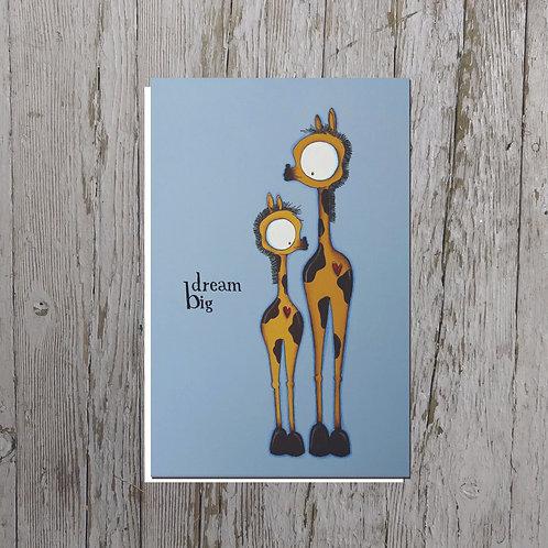 Dream Big Giraffes Card