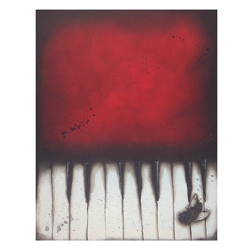Piano/Fly Original Painting