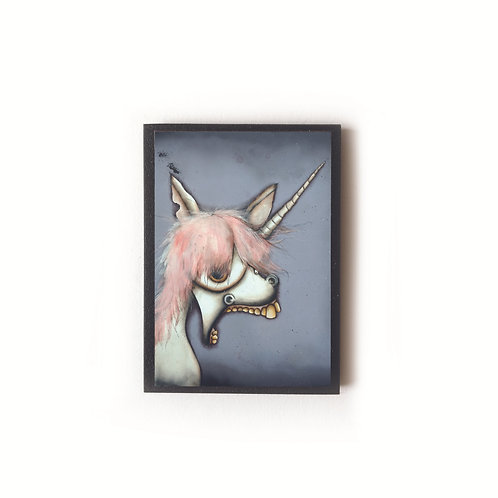 Creepy Unicorn Magnet