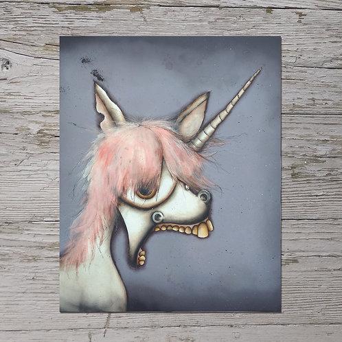 Creepy Unicorn Print