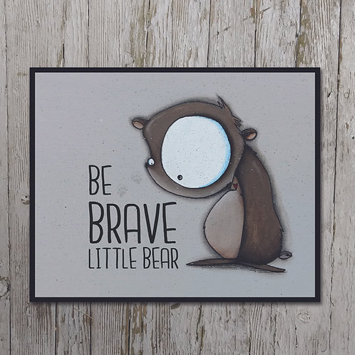 Bear Print Plaque