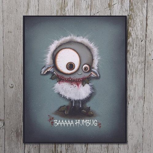 Baaa Humbug Print Plaque