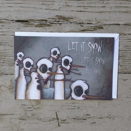 Zombie Snowmen Card