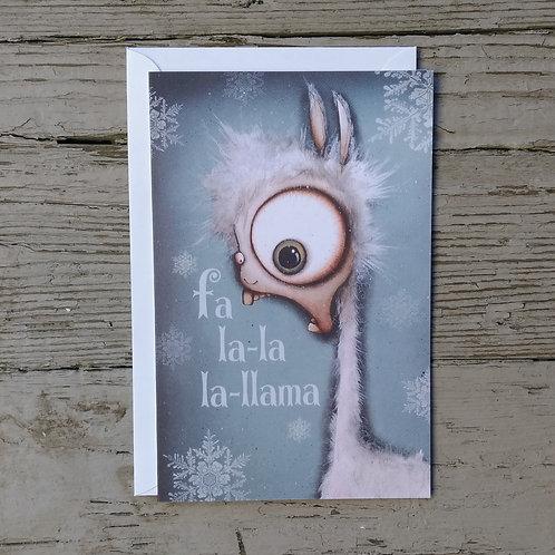Fa La La Llama Card