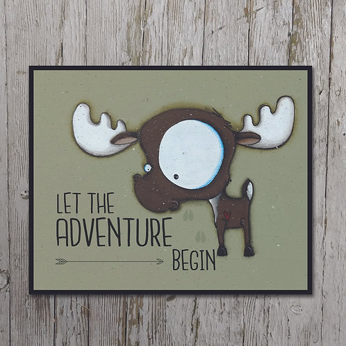 Moose Print Plaque