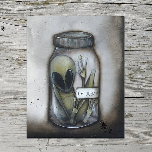 Alien in a Jar Print