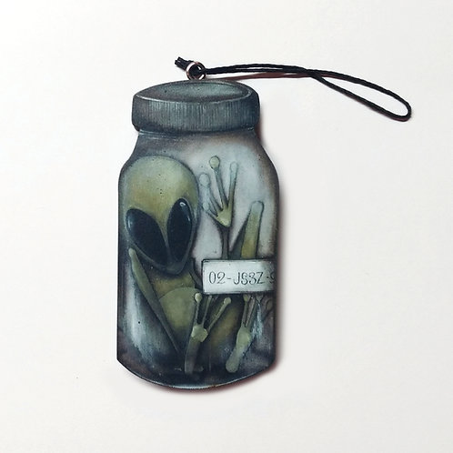 Alien in Jar Ornament