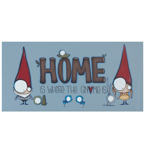 """12""""x24"""" Home is Where the Gnome Is Original Painting"""