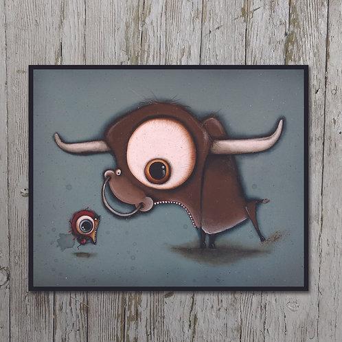 Bull Print Plaque