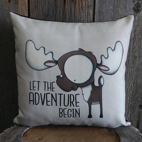 Let the Adventure Begin Pillow