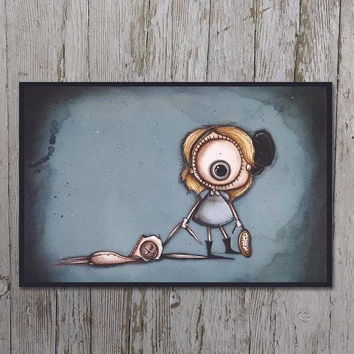 Alice/White Rabbit Print Plaque