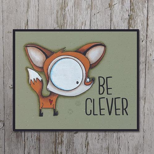 Fox Print Plaque