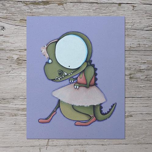 Ballerina T-Rex Print
