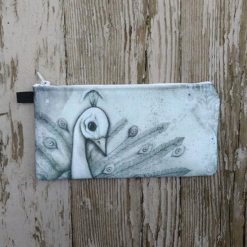 White Peacock Pencil Case