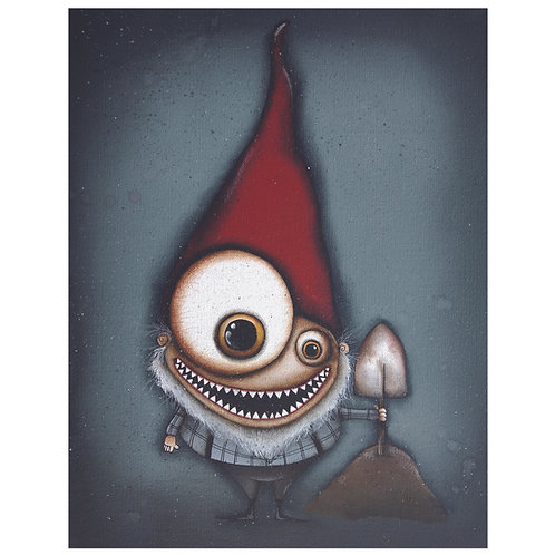 """11""""x14"""" Gnome Painting"""