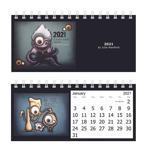 2021 12-Month  Desk Calendar