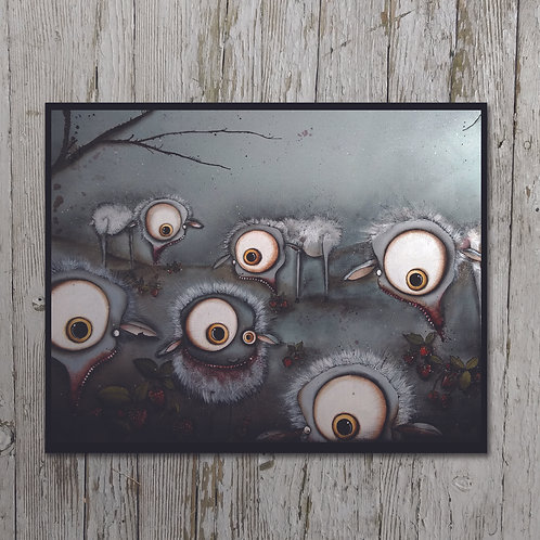 Sheep in a Strawberry Field Plaque