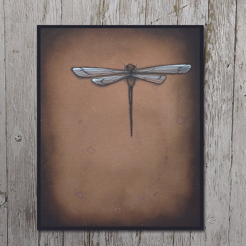 Dragonfly Print Plaque
