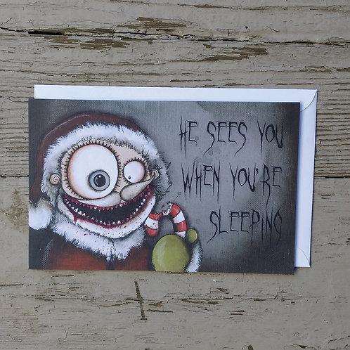 Creepy Santa Card