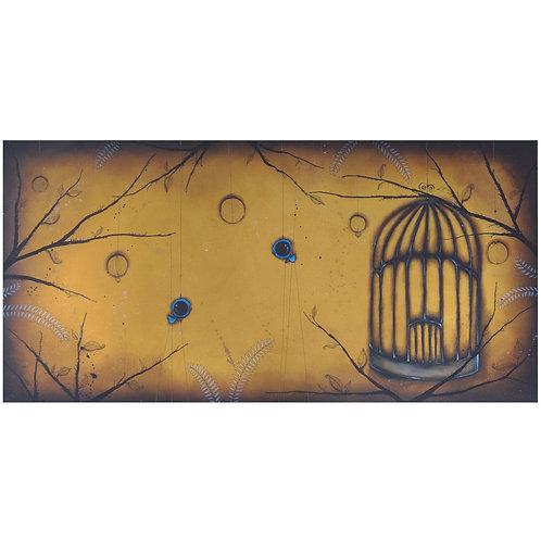 4'x2' Birdcage Original Painting