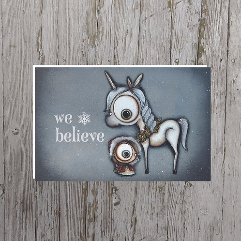 """We Believe"" Unicorn Card"