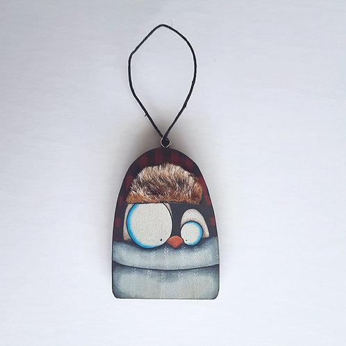 Fur Hat Penguin Ornament