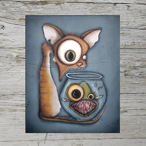 Cat/ Fish Print