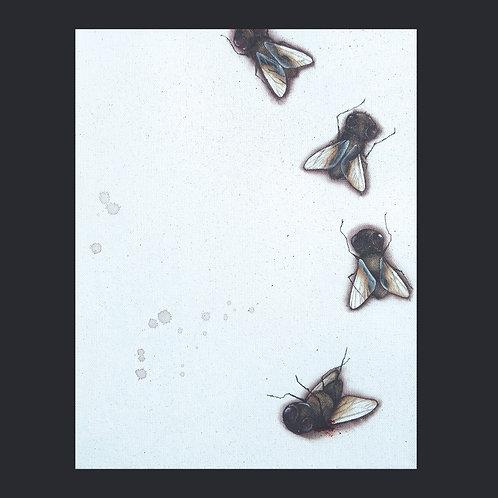 "11""x14"" Flies Painting"