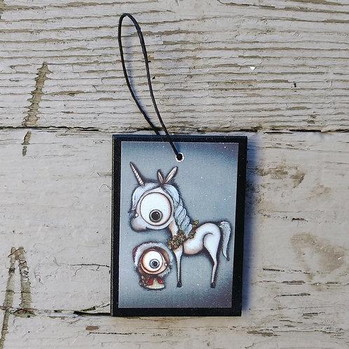 Small Winter Unicorn Ornament