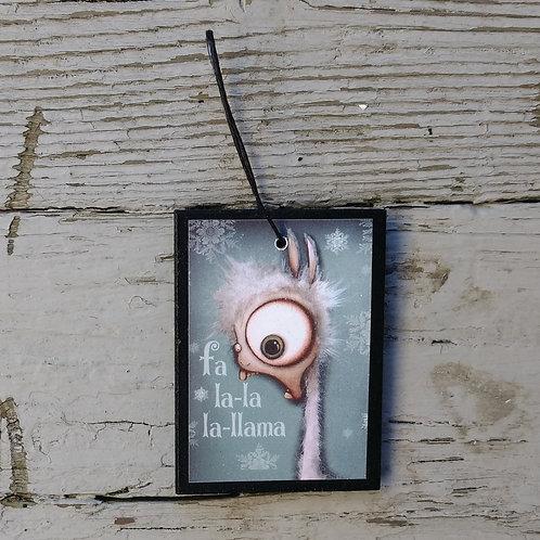 Small Fa la-la Ornament