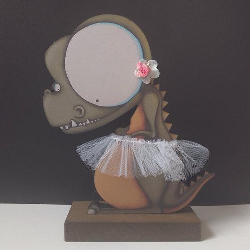 Ballerina Dinosaur Print Stand-Up