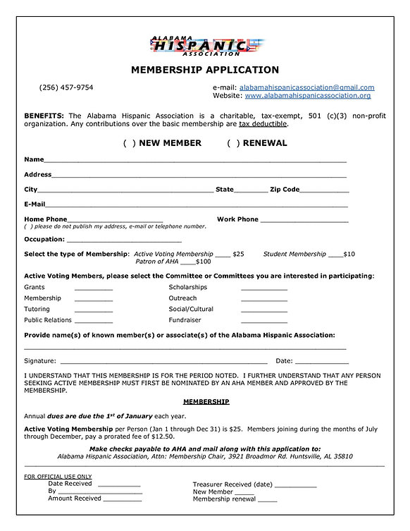 AHA Membership Application - 09-18-2018.