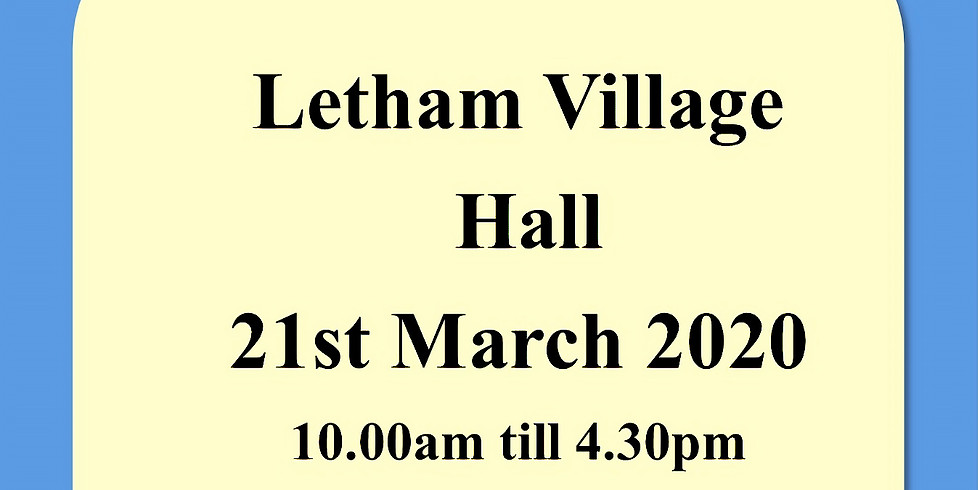 Letham Village Hall - 21st March 2020