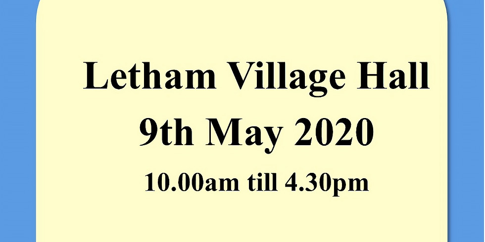 Letham Village Hall 9th May 2020