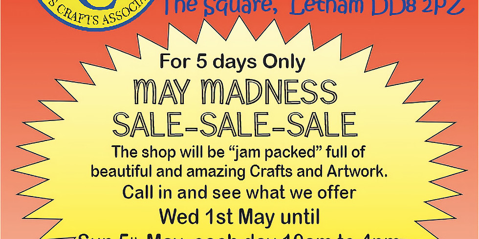 Hand Pict May Madness Sale - 1st/5th May 2019