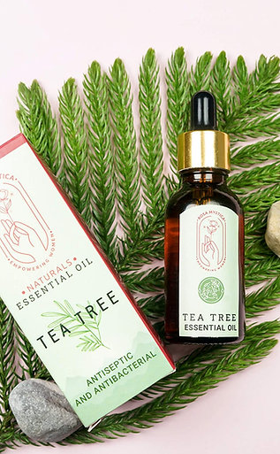 Rosa Mystica Pure And Natural Tea Tree Essential Oil for Skin, Hair, Face, Acne