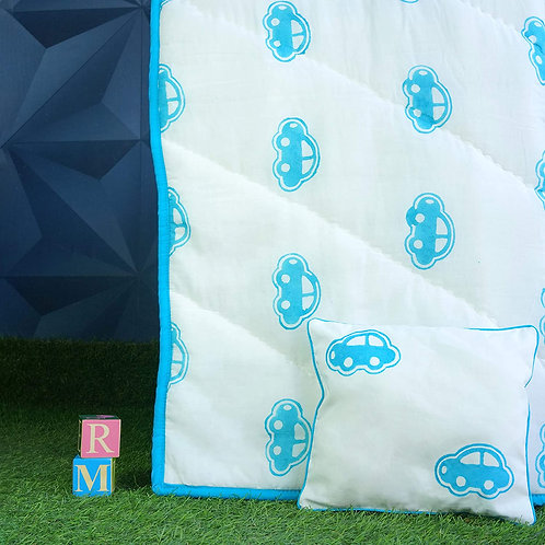 Rosa Mystica Soft Quilt Dohar with 1 Pillow   Mild Winter or AC Quilt for baby