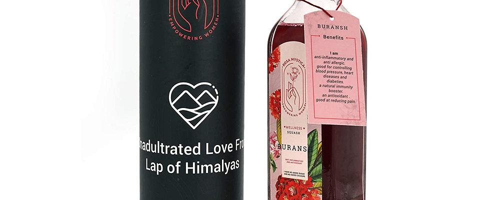 ROSA MYSTICA wellness Premium Buransh (Rhododendron) Squash and Juice Glass Bott