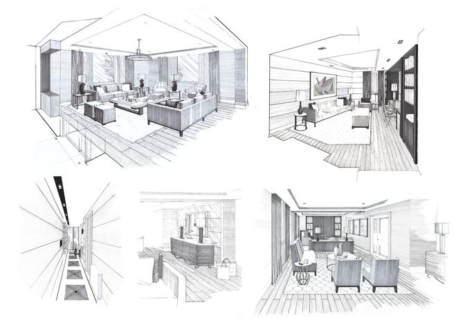 Kensington Apartment Sketches